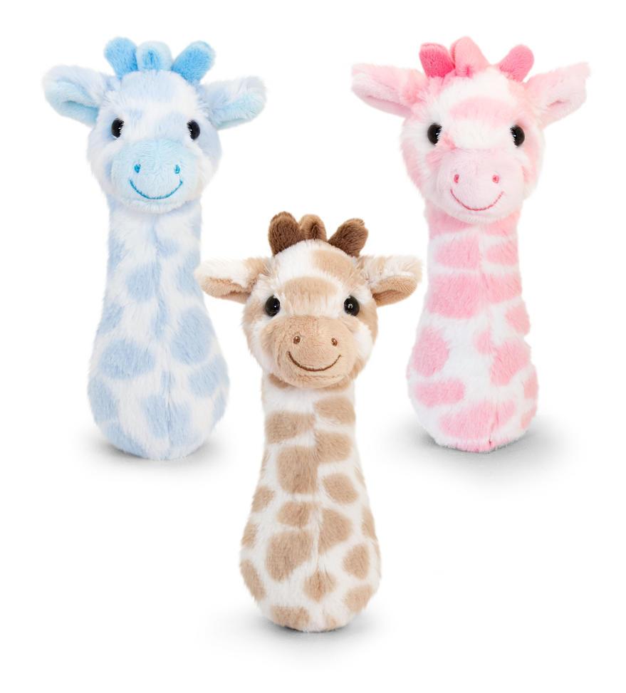 Helistin kirahvi vauvalle 15cm Keel Toys